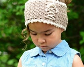 CROCHET PATTERN - Cottage Chic Head Wrap - crochet headband pattern in 5 sizes (Babies, Toddler, Child, Adult) - Instant PDF Download