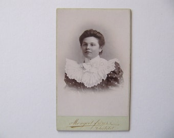 Antique Cabinet Photo card, Vintage photographs, lady photos, late 1800s 1900s ephemera, photocard, French Belgian, very good condition