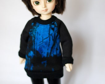 BJD Blue And Black Sweater For YoSD