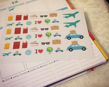 ST0017   Travel Stickers perfect for Erin Condren Planner  - Roadtrip stickers   Planner Stickers  Filofax   Planner  erin condren