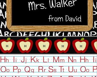 Digital Printable Personalized Teacher Appreciation Card
