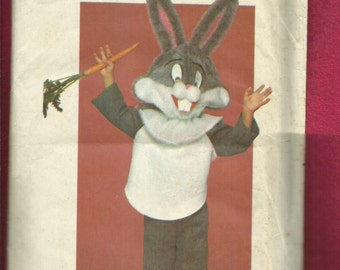 Vintage 1980's Butterick  6348 Bugs Bunny Costume for Kids Sizes S..M..L Uncut