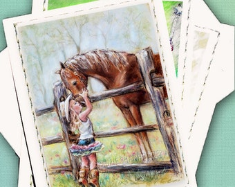 Note Cards, Detach 4x6 art photo, Choose any artwork, 1, 3 or 4 - Cream  Note Cards 5 x 7, envelope Blank inside
