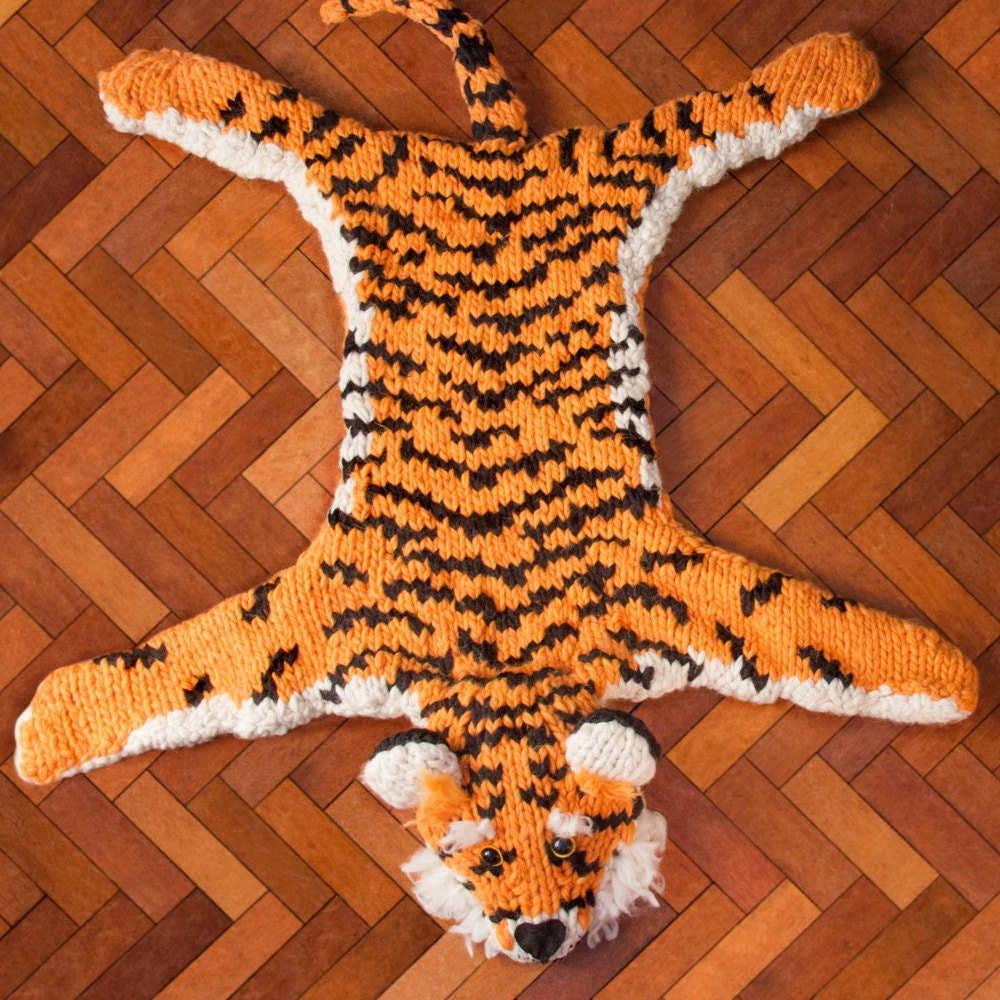 Giant Tiger Rug 'Faux Taxidermy Knits' Knitting Kit