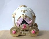 Fondant Princess Carriage Cake Topper - Perfect for Princess Party - Princess Cake Topper - Fondant Carriage - Princess Crown Fondant Topper
