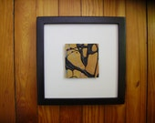 ORIGINAL mixed media drip painting. Abstract art on paper. Framed, contemporary, Modern, stylish, funky, Unique affordable wall decor. SQ11