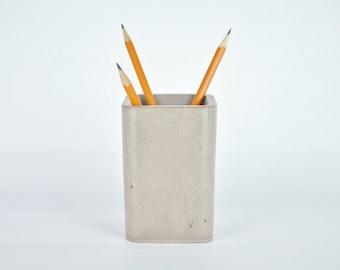 SALE! Concrete Pencil Holder / Concrete Toothbrush Holder / Concrete Makeup Brush Holder