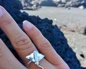 Sting Ray Ring, Manta Ray Ring, Sterling Silver ring, Ocean ring, sea creatures, beach jewelry, nautical, hawaii