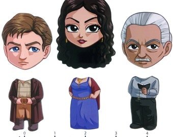 Mix and Match Magnets: Malcom Reynolds, Inara Serra, Shepherd Book (Firefly Set 1)