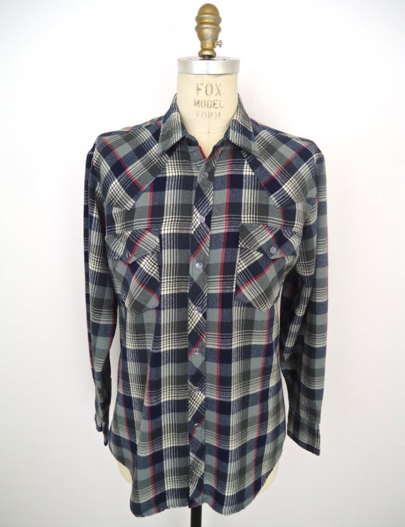 Items Similar To Sale 1980s Western Flannel Vintage