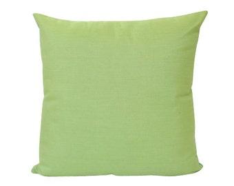 Parrot Green Sunbrella Indoor Outdoor Pillow Cover