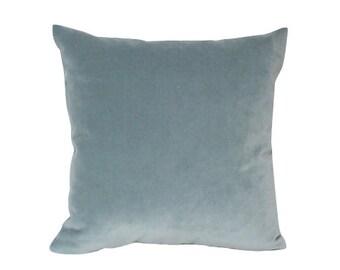 Designer Velvet Pillow Cover in Slate Blue