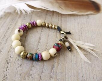 Sale / Bohemian jewelry, yoga bracelet, ethnic jewelry, bohemian bracelet, boho chic jewelry