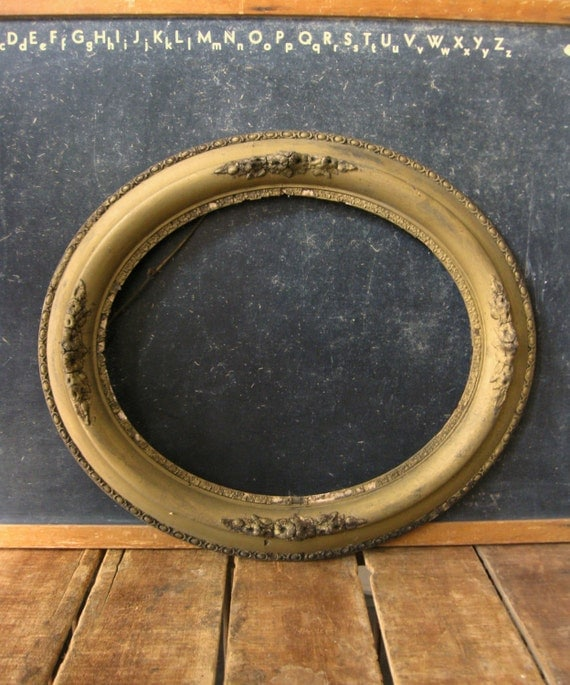 antique oval gold frame large gold gesso frame oval frame victorian frame