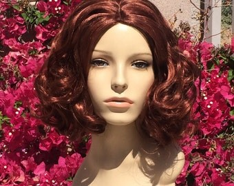 Black Widow Avengers Natasha Auburn Wavy Wig