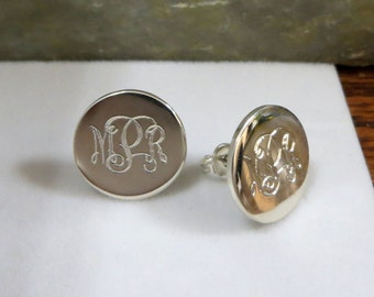 Monogrammed Earrings - Personalized - Bridesmaids  - Weddings