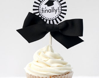 Graduation Cupcake Toppers - CLASS OF 2016 Printable