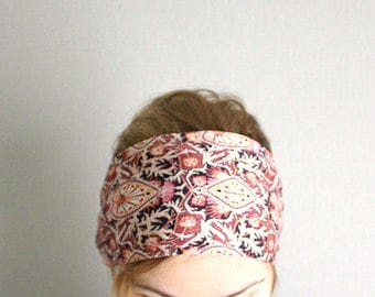 ethnic headband wide bandana head band boho tribal head wrap chic headwrap hair wraps winter fashion for women trendy burgundy