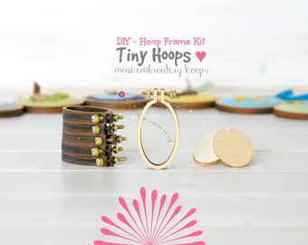 DIY Tiny Embroidery Hoop Frame Kit - 27mm x 45mm - Embroidery Hoop Frame - Oval Miniature Embroidery Hoop - DIY Mini Oval Hoop Kit