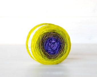 Hand Dyed Gradient Yarn - 100% Wool - Color: Grapevine Ombre - 1Ply Sport Yarn - Colorful Soft Yarns by Freia - Gorgeous Ombre Yarns - Wool