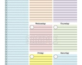 Weekly Planner Page - printable, weekly, organizer, week at a glance, to do, checklist,
