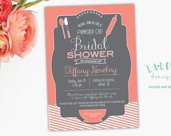 Kitchen Bridal Shower Invitation, Pampered Chef Bridal Shower Invite, Kitchen Bridal Shower, DIY Printable