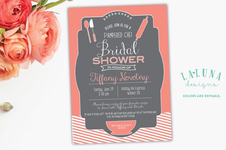Kitchen Bridal Shower Invitation Pampered Chef Bridal Shower