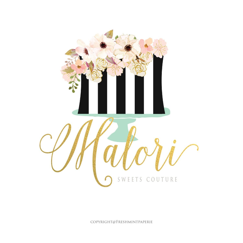 Custom pre made logo design calligraphy
