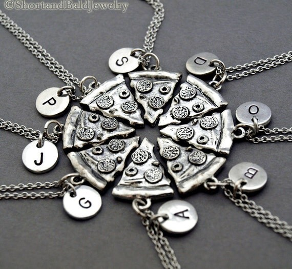 pizza necklace pizza slice necklaces set of 6 7 8