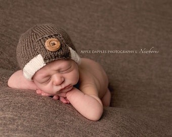 Newborn Boy Photo Prop - Newborn Boy Hat - Knit Baby Hat - Newborn Photo Prop - Newborn Boy Beanie - Baby Boy Hat - Baby Boy Clothes