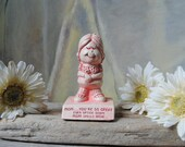 Vintage Paula Figurine | 1970's Collectible Figurine | Mother's Day | Mom Spells Wow Statue | Gift for Mom | Humorous Gift for Her