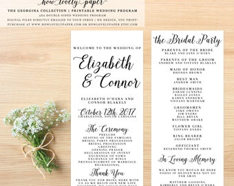 Printable Wedding Program - the Georgina Collection