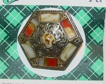 Sale! 30% off:  Genuine Scottish Agate Jewelry On Original Card