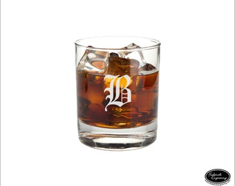 Custom Whiskey Glass, SHIPS FAST, Personalized Rocks Glass, Etched Scotch Glass, Engraved Bourbon Glass, Groomsmen Glasses, Any Quantity