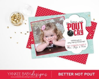 Better Not Pout - Photo Christmas Card