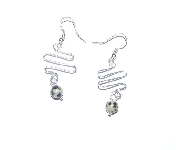 items similar to wire earrings bent wire jewelry  silver