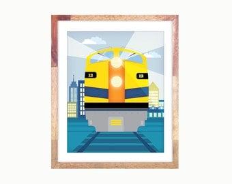 """8x10"""" Deisel Train Print"""