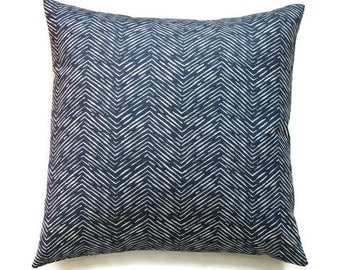 Blue Pillow Cover, 24x24 Pillow Cover, Accent Pillow, Decorative Pillow, Beach Decor, Nautical, Home Decor, Cameron Premier Navy