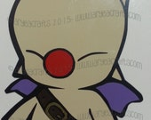 """COLORED (layered) Final Fantasy Moogle Vinyl Decal (3-12"""" tall) featured image"""