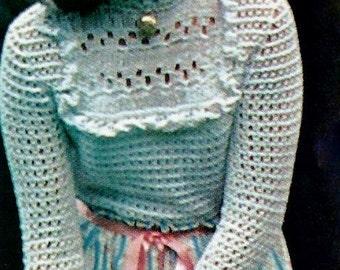 Lacy Victorian Blouse Vintage Crochet Pattern Download