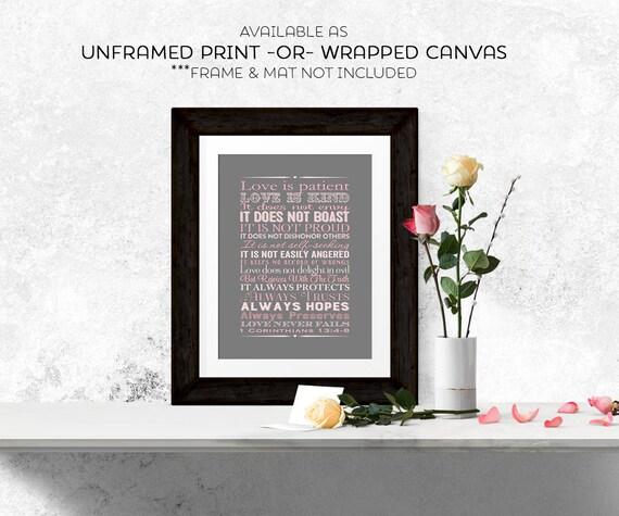 1st corinthians 13 scripture art wedding by willowlaneprints. Black Bedroom Furniture Sets. Home Design Ideas