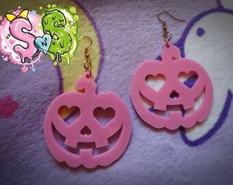 Pinky Pumpkin EARRINGS