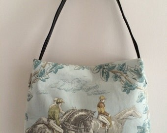 Blue Equestrian Handbag Purse