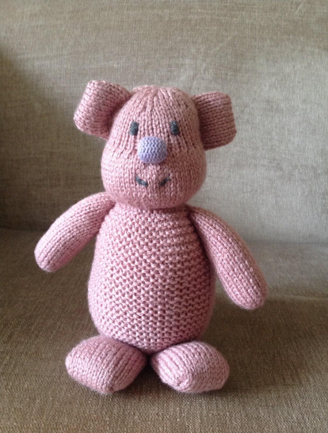 Hand knitted cute dinosaur teddy bear