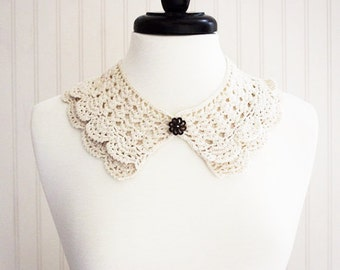 Cream Crochet Neck Collar