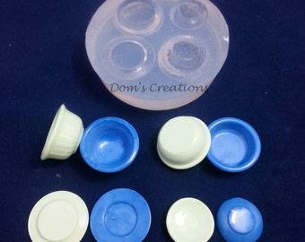 Dollhouse miniature plates silicone mold