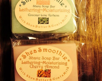 Women's Shea Smoothie Shave Soaps with Shea Butter & Goats Milk!
