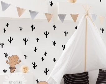 Cactus Wall Decal / 45 Cactus Sticker / Kids Wall Decal / Kids Room Decor / gift