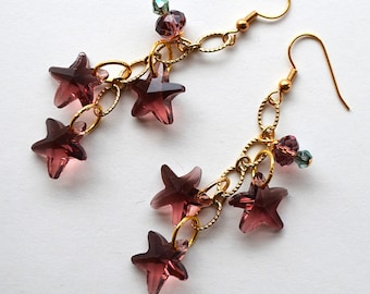 Royal constellation earrings