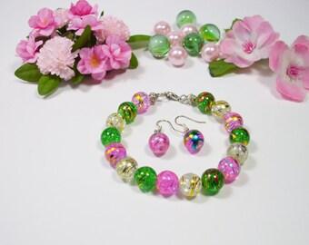 Teen Jewelry Set beaded bracelet and earrings fashion jewelry set girls jewelry set teen bracelet set fashion bracelet set gift for girls
